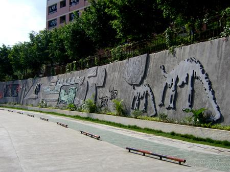 龙城 高级中学 文化 墙图片